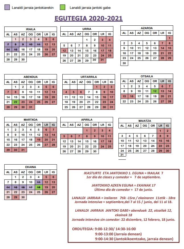 2020-21 EGUTEGIA